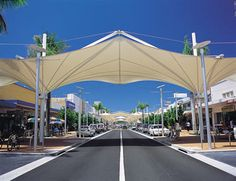 Coffs Harbour Mall, Australia Outdoor Pool Furniture, Membrane Structure, Support Columns, Tensile Structures, Space Frame, Fabric Structure, Dome Tent, Bus Stop, Canopy