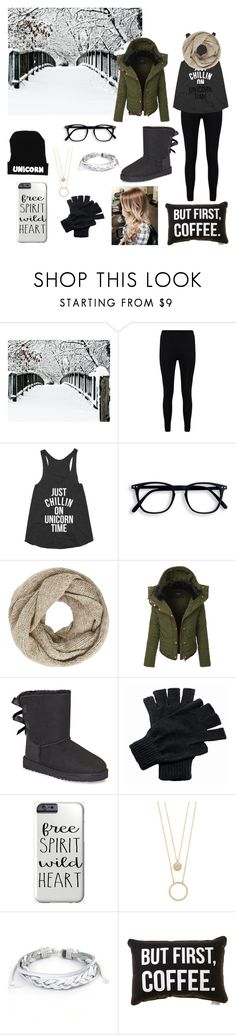 """""""Geek Girl Chic"""" by whalestalker ❤ liked on Polyvore featuring Boohoo, John Lewis, LE3NO, UGG, Regatta, Kate Spade and West Coast Jewelry"""