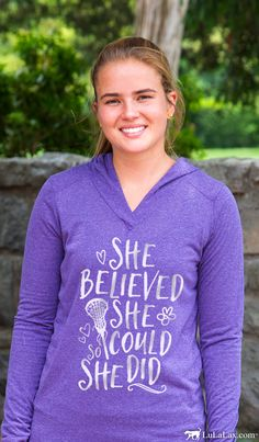 Be inspired by this cozy lightweight performance hoodie...perfect for fall ball or chilly early spring lacrosse!