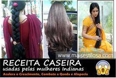 Mulheres INDIANAS usam essa RECEITA para o cabelo crescer mais RÁPIDO!