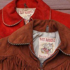 Vintage 1950s Roy Rogers western cowboy kids jacket