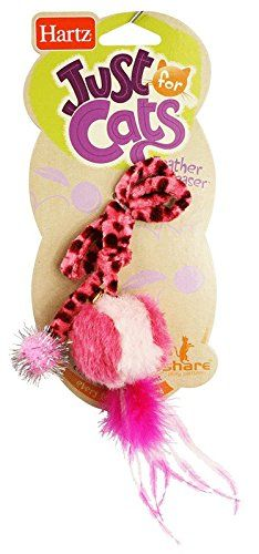 Hartz Feather Ball Teaser Cat Toy (Color May Vary) ** Check out the image by visiting the link. (This is an Amazon affiliate link)