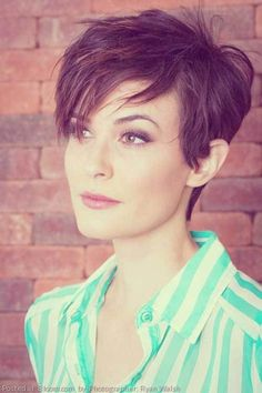 Pixie Cut with Asymmetrical Bangs