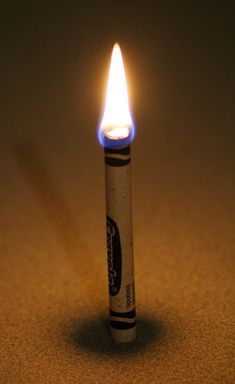 In the event of an emergency a crayola crayon (when lit on fire) will provide you with fifteen to thirty minutes of light.