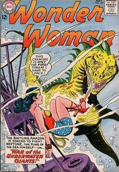 1964-05 - Wonder Woman Volume 1 - #146 - War of the Underwater Giants #WonderWomanComics #DCComics #WonderWomanFan #WonderWoman #ComicBooks