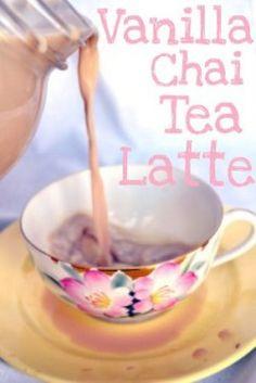 Homemade Vanilla Chai Tea Latte Recipe