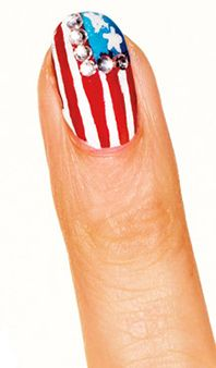 4th of July nails! juli nail, flag nail, 4th of july toe nail designs