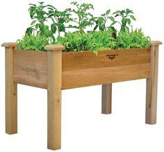 Rustic Red Cedar Wooden Elevated Garden Flower Herb Planter Bed Deck Patio Box #Gronomics