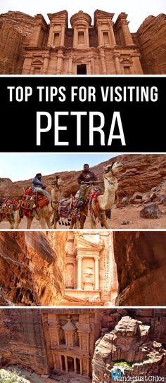 Top Tips For Visiting Petra, Jordan. When planning a trip to Petra, there are a lot of questions. What to wear, what to see, how to get there and how much it costs? Find out all the answers in this ultimate travel guide to Petra. https://www.wanderlustchloe.com/petra-jordan-travel-guide-tips/