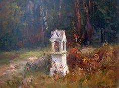 Kapliczka w Krynkach Catholic Art, Chapelle, Eastern Europe, Landscape Paintings, Poland, Art Nouveau, Seasons, Amazing, Illustration