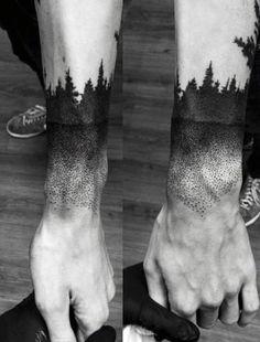Men's Wrist Pine Tree Tattoo Design Inspiration