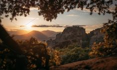 Sunset at Meteora, Greece. A UNesco site in middle/northern Greece. Monument Valley, Fountain, Greece, Around The Worlds, Middle, Sunset, Landscape, Photography, Travel