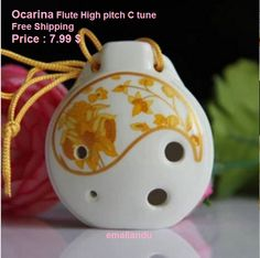 1pc Chinese Six holes Porcelain flute High pitch C tune Ocarina Music Instrument for Beginners by Emallandu on Etsy