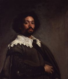Portrait of Juan de Pareja (c. 1650) by Diego Velázquez. This is the painting that inspired Emily to draw the painting of her husband, Amir.