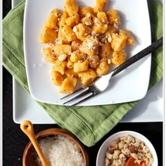 sweet potato gnocchi with hazelnuts