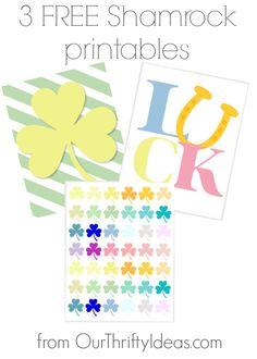 what a fun take on St. Patrick's Day. FREE printables
