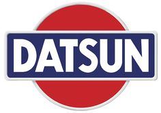 """The """"classic"""" Datsun logo, based on the Flag of Japan and Japan's nickname as the """"Land of the Rising Sun"""". After the Nissan rebrand, the logo remained the same, with """"Datsun"""" replaced by """"Nissan"""". Porsche 911 Gt2, Car Badges, Car Logos, Logo Autos, Moto Logo, Bicicletas Raleigh, Datsun Car, Assurance Auto, British Sports Cars"""