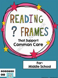 Back to School Giveaway!! Enter for your chance to win 1 of 3.  Reading Question Frames to Support Middle School Common Core (18 pages) from WingedOne on TeachersNotebook.com (Ends on on 9-9-2014)  Reading Question Frames to Support Common Core!