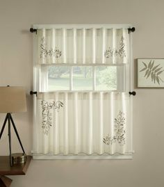 Scroll Leaf Valance Ivory by The_Curtain_Shop. $16.99. 100% Ppolyester. Perfect in many different rooms. Machine care. High Quality. This simple and elegant backtab ensemble features embroidered scroll leaves an a faux linen background. The off center pattern add beauty and interest while framing the window perfectly.. Save 15%!