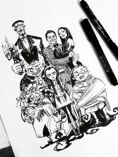 The Addams Family by eDufRancisco.deviantart.com on @DeviantArt