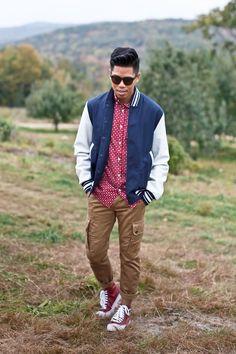 Outfit: Men's Varsity Jacket Apples To Apples - See the full post HERE FACEBOOK | TWITTER | BLOGLOVIN | PINTEREST | INSTAGRAM