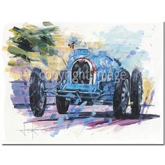 Man of Action (Chiron / Monaco / Bugatti) Original Painting by John Ketchell