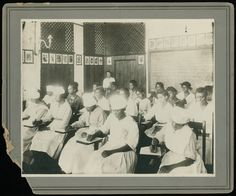 Group of female students in classroom.  [Classes], Atlanta University Photographs, Robert W. Woodruff Library, presented in the Digital Library of Georgia.  Atlanta University Center (Ga.)