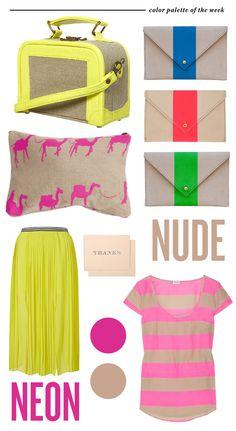 neon & nude <3