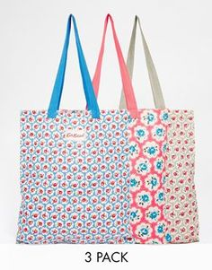 Cath Kidston Set of Three Cotton Book Bags