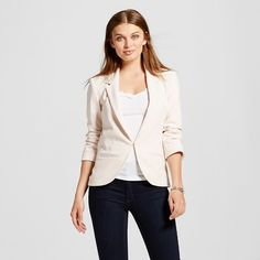 Women's Crepe Fitted Blazer Petal - ABS Collection