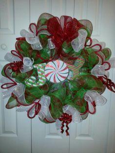 Joy deco mesh wreath