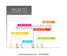 Colorful  Vector Infographic timeline report template with flags