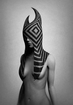 Creative Portrait, Grey, Faced, Slave, and Gabriel image ideas & inspiration on Designspiration Mode Sombre, Body Adornment, Headgear, Belle Photo, Headdress, Black And White Photography, Gabriel, Wearable Art, In This World