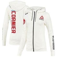 9507726183af Daniel Cormier UFC Reebok Women s UFC Franchise Fighter Walkout Hoodie –  White -  94.99
