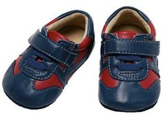 See Kai Run Smaller Kieran Baby/ Toddler Navy Red Sneakers.