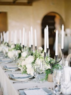 California White & Blue Wedding Greenwood Events - Planning & Floral Design Photography - Jeremiah & Rachel Photography Tabletop Rentals - The Ark Candlesticks - Theoni Menus - Wiley Valentine Southern Weddings, Romantic Weddings, Destination Weddings, Romantic Ideas, Unique Weddings, Indoor Wedding, Garden Wedding, Italian Wedding Venues, Classic Garden