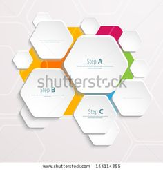 Background polygons cut paper- design template. Vector illustration for your business presentation - stock vector