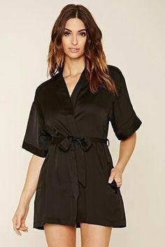 #robe mac black satin robe