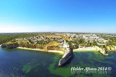 Lagoa - Vista aérea da Praia da Senhora da Rocha - Porches