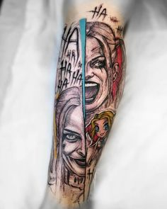 Harley Quinn Tattoos Is Exactly What You Are Looking For - Millions Grace Red Tattoos, Finger Tattoos, Cool Tattoos, Tatoos, Harley Quinn Tattoo, Harley Quinn Drawing, Chicano, Comic Tattoo, Arm Tats