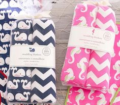 Seahorse & Whale Swaddle Sets | Pottery Barn Kids