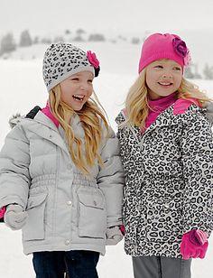 BNWT! Baby Girls Padded Puffa Style Coat Animal Print,Lovely /& Warm