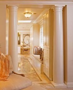 Inlaid marble design on the floor for pure joy! visit www.janeantonacci.com
