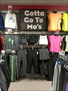 "This Gotta-Go-To-Mo's Branding Alliteration slogan even beats the seminal ""I want my Maypo."" If for no other reason than the creativity and alliteration. Alliteration, Entrance, Retail, Branding, Store, Color, Black, Cabinets, Entryway"