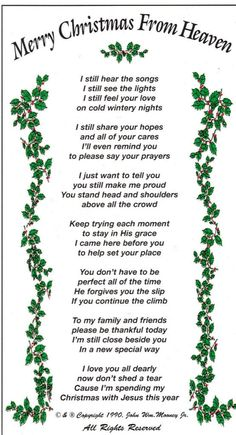 Wishing my MOM a very Merry First Christmas in heaven . Heaven Poems, Heaven Quotes, Angels In Heaven, Merry Christmas In Heaven, Christmas Poems, Merry Christmas Quotes Wishing You A, Christmas Prayer, Christmas Time, Xmas