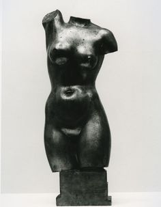 """""""Female Torso"""", 1930, Paul Fiene, American (1899-1949), gilded bronze, 8 1/4 x in. Museum purchase with funds from Baker Furniture Company, 1982. 1982.3137"""
