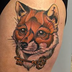 Tattoo Studio, Zorro Tattoo, Fuchs Tattoo, Angry Animals, Tattoo Power Supply, Black Tattoos, Fox Tattoos, Fox Face, Neo Traditional Tattoo
