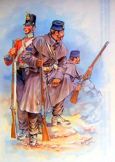 British Foot Guards at the Battle of Inkerman, Crimean War