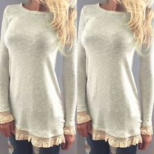 Pretty white tunic sweater with lace detailing XL Gorgeous sweater! Soft white sweater with lace trim on the bottom, and the sleeves. Looks great with jeans or leggings! Long Sleeve Sweater, Long Sleeve Tops, Long Sleeve Shirts, Do It Yourself Fashion, Women's Summer Fashion, Fall Fashion, Fashion Site, Herren T Shirt, Lace Sleeves