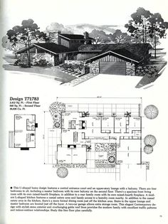 Home Planners DesignMid Century Modern House Plans   Vintage House Plans 1960s  . Mid Century Modern Home Floor Plans. Home Design Ideas